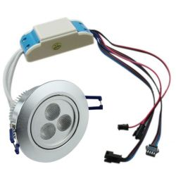 Faretto ad incasso LED RGB dimmerabile 9 watt controllo PWM 12 e 24 volt