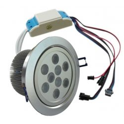 Recessed spotlight with LED RGB dimmable 27 watts PWM control 24 volts