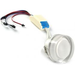 Recessed spotlight LED RGBW dimmable 24 watts PWM control 24 volts
