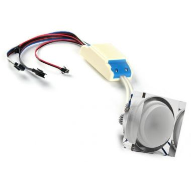 Recessed spotlight LED RGBW dimmable 8 watts PWM control 12 and 24 volts