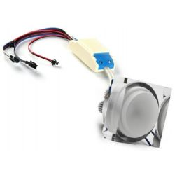 Recessed spotlight with LED RGB dimmable 15 watts PWM control 24 volts