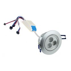 Recessed spotlight LED RGBWA dimmable 30 watts PWM control 24 volts