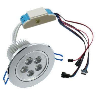 Recessed spotlight LED RGBWA dimmable 50 watts PWM control 24 volts