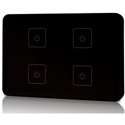 Touch panel led Elegance Dimmer Z4 503 Italia 4 zone nero