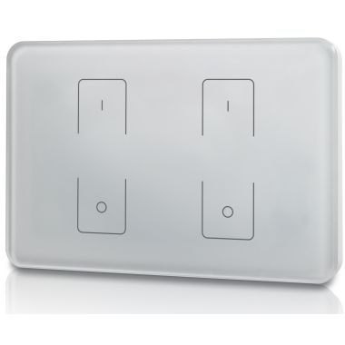 welegance z2 rf rgbw led systems touch panel dimmer muro 2 zone 503 italia bianco en