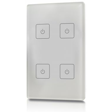 welegance z4 rf rgbw led systems touch panel dimmer muro 4 zone 503 mexico bianco