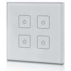 welegance z4 uk rf rgbw led systems touch panel dimmer muro 4 zone 502 uk europa bianco