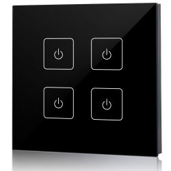 welegance z4 uk rf rgbw led systems touch panel dimmer muro 4 zone 502 uk europa nero